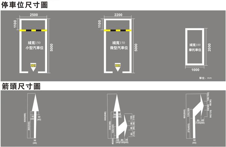 停车场标准尺寸图 - 平湖市晋丰装饰工程有限公司